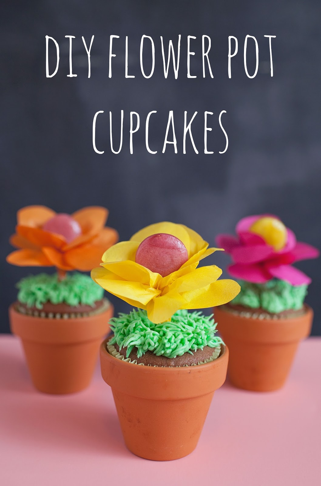 Tell spring flower pot cupcakes tell love and partytell love and