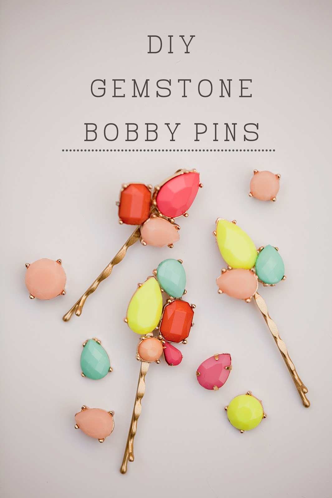 tell: diy gemstone bobby pins - tell love and party