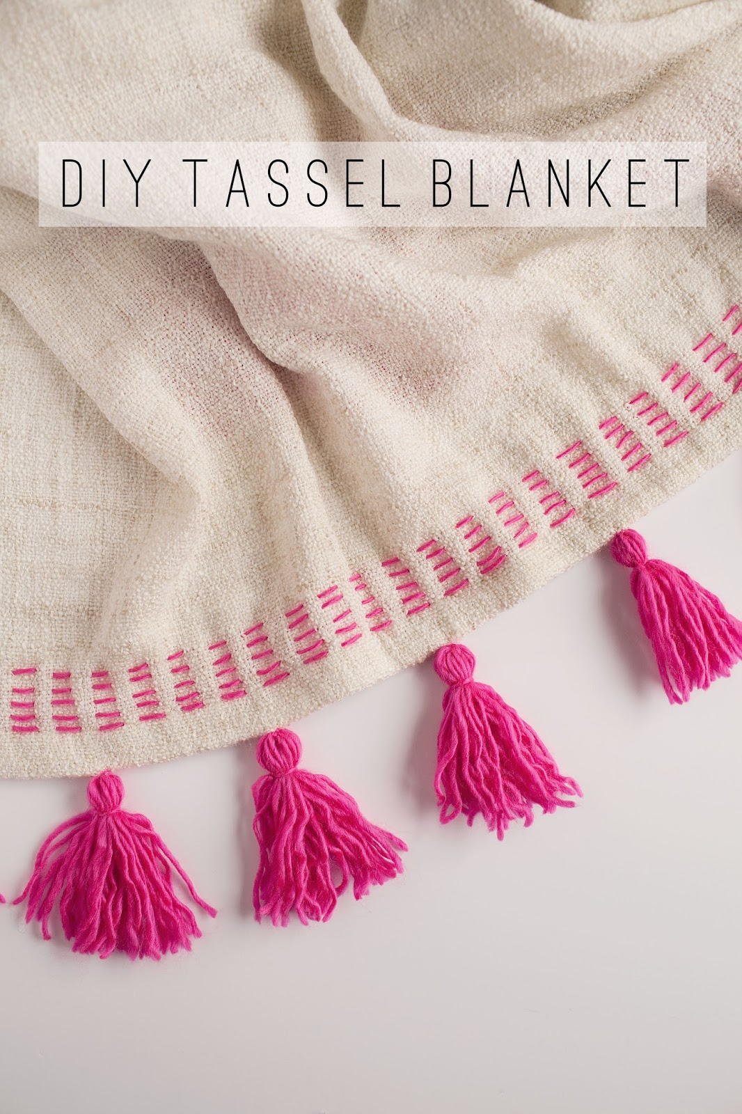tell diy tassel blanket tell love and partytell love and party