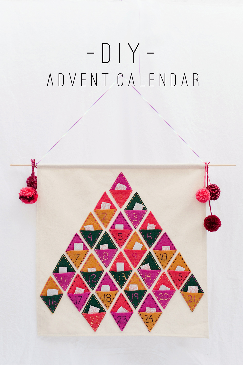 Calendar Advent Diy : Tell diy advent calendar love and party