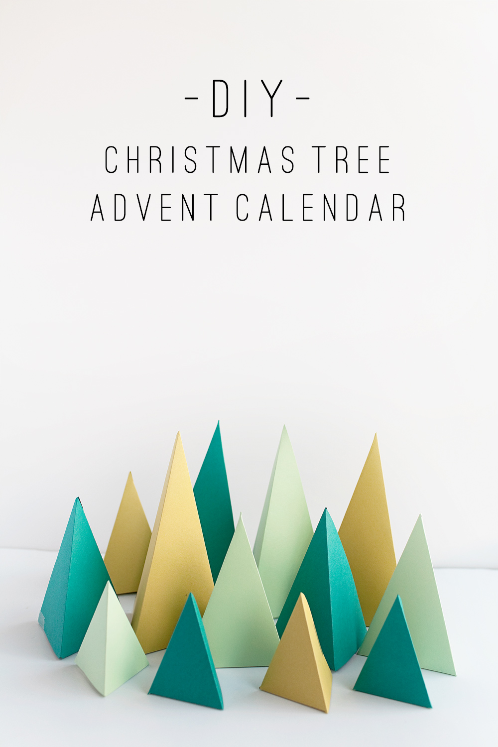 tell diy christmas tree advent calendar tell love and party