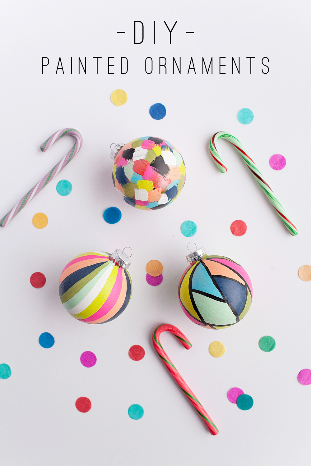 Tell Diy Painted Ornaments Tell Love And Party