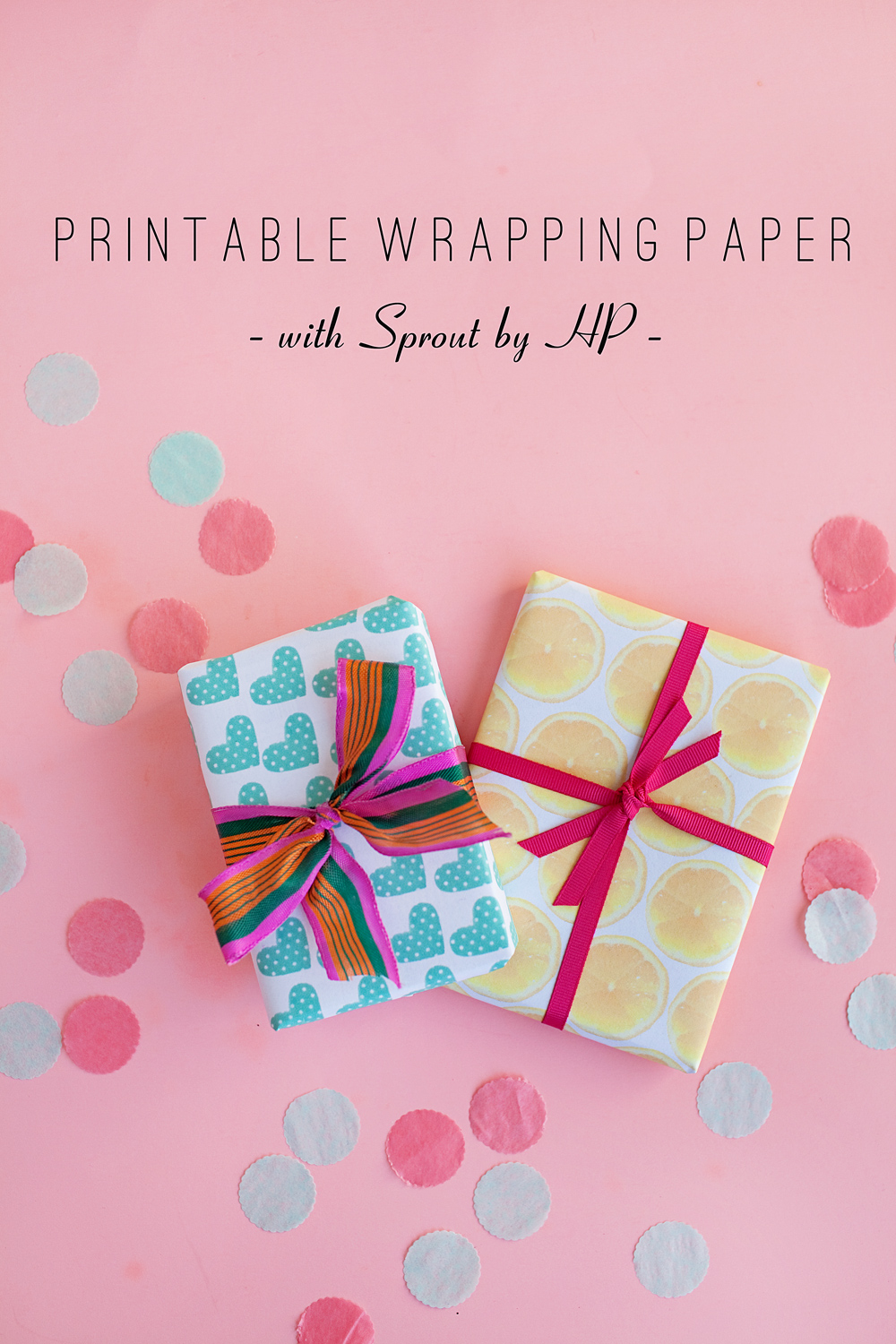 Printable Birthday Gift Wrapper ~ Tell diy wrapping paper with sprout by hp love and party