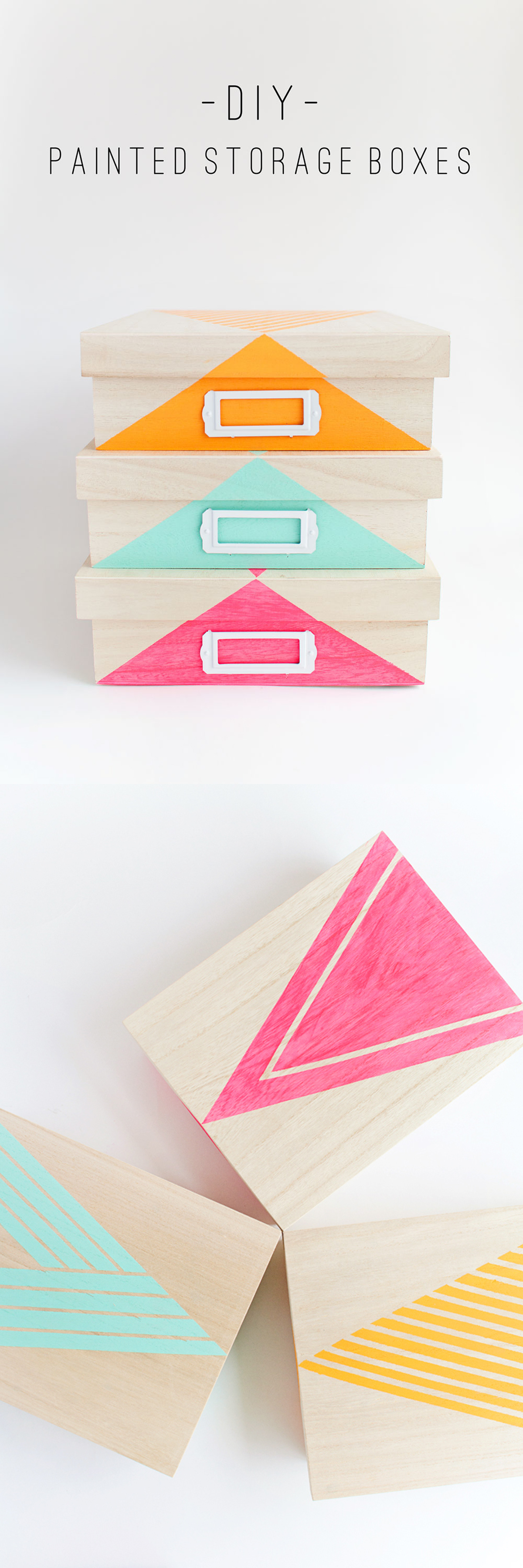 Diy painted storage box tell love and party for Diy paint