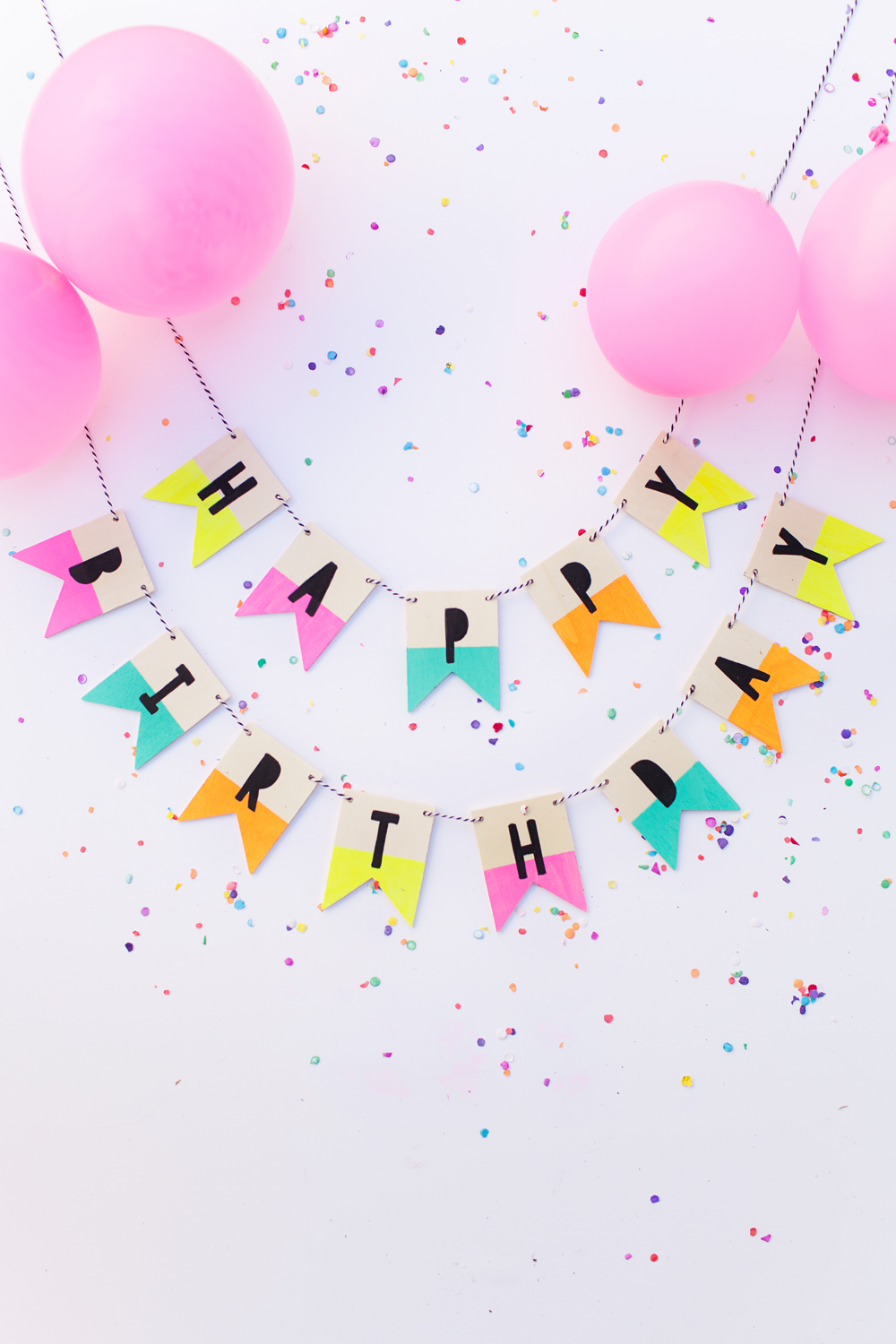 WOOD BIRTHDAY BANNER - Tell Love and Party