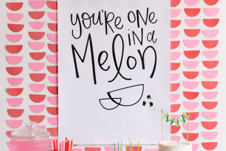 diy watermelon party free printable