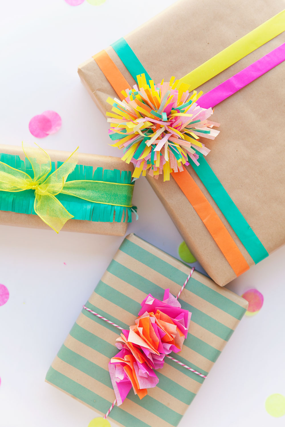 3 FUN WAYS TO WRAP WITH TISSUE PAPER