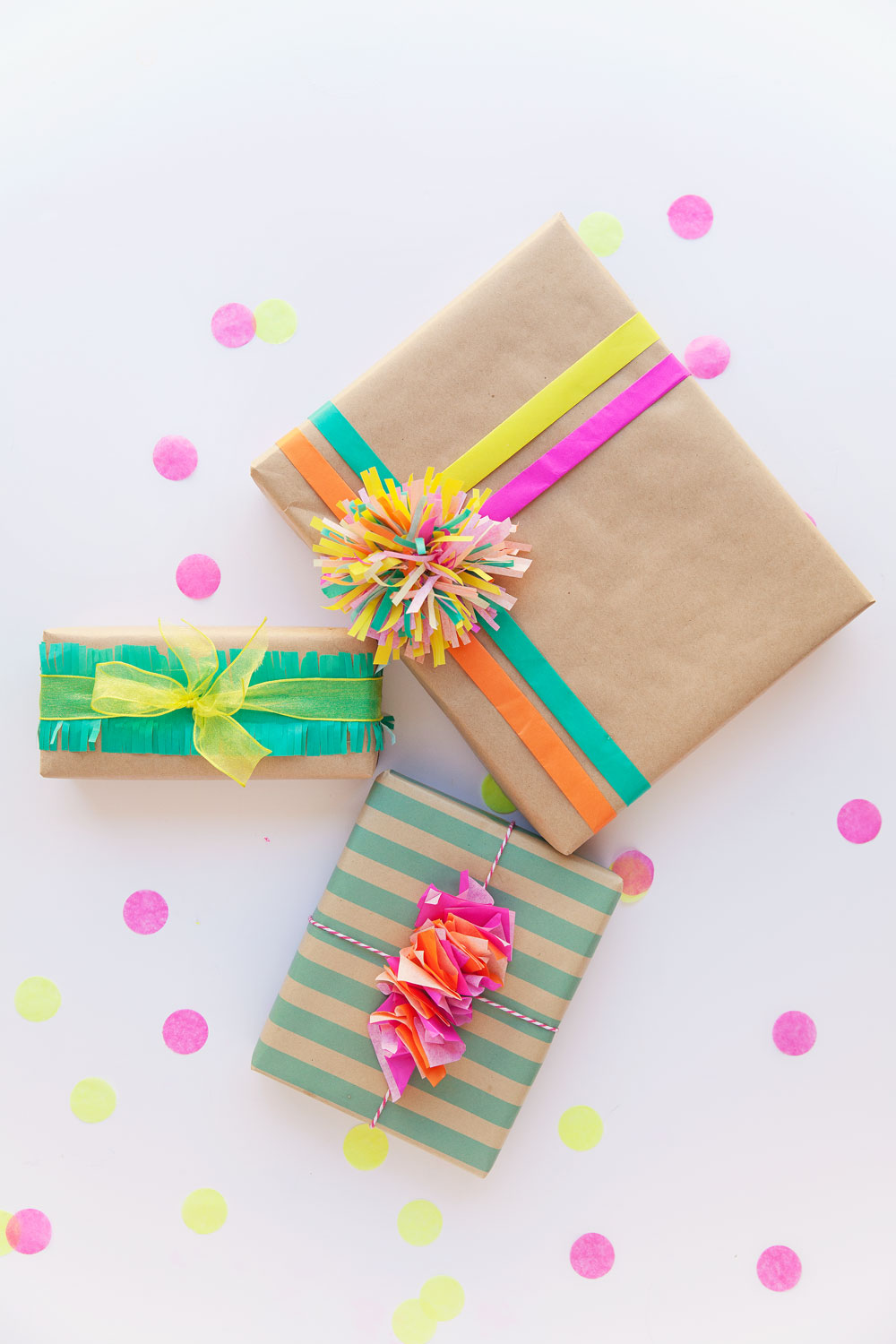 3 fun ways to wrap with tissue paper tell love and party for How to wrap presents with wrapping paper