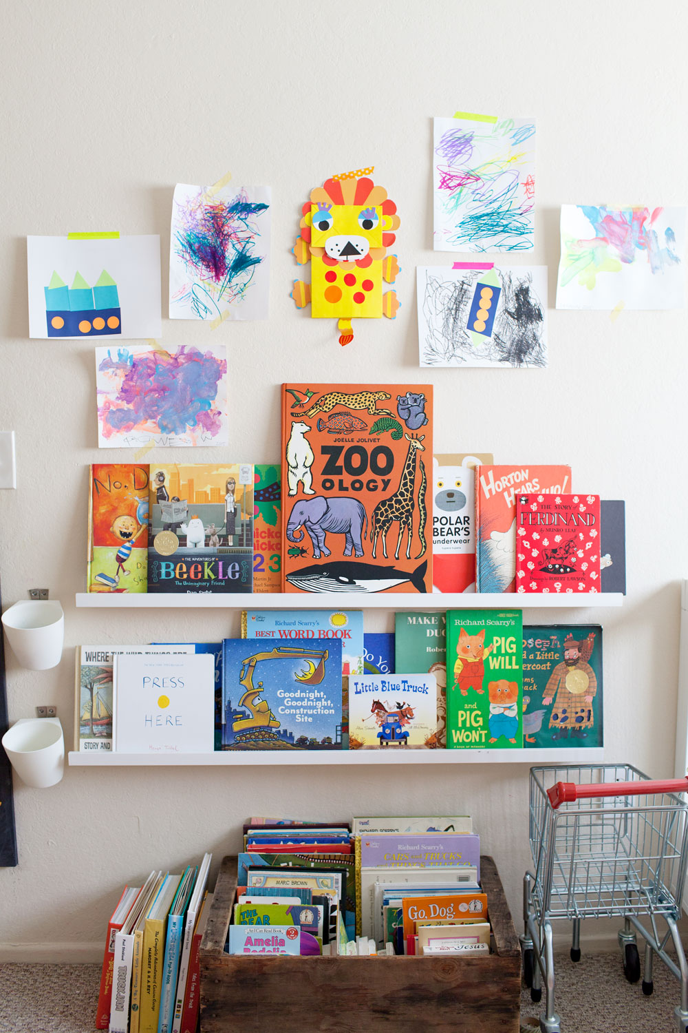 Tell Love and Chocolate- Kids book wall