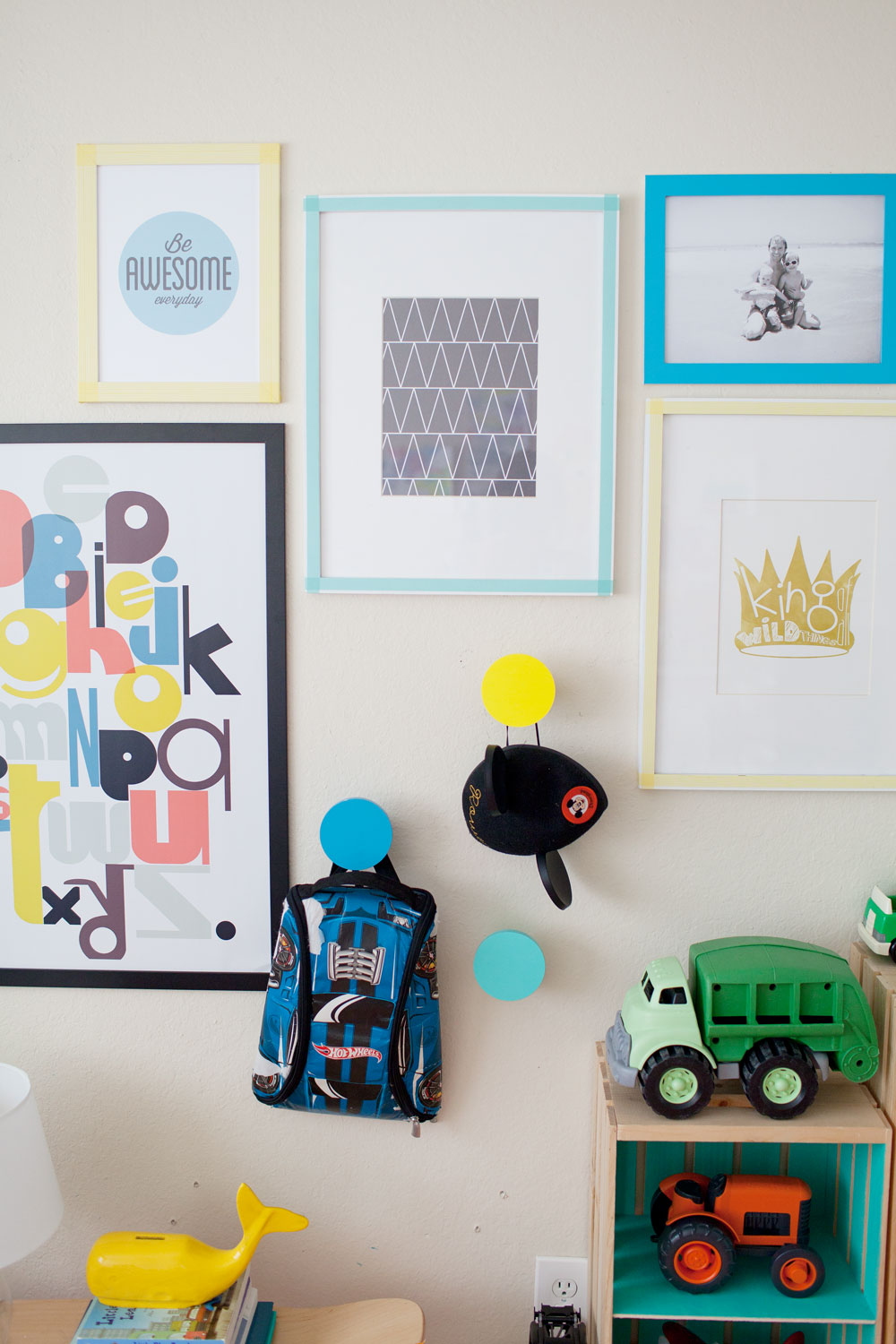Tell Love and Chocolate- kids gallery wall