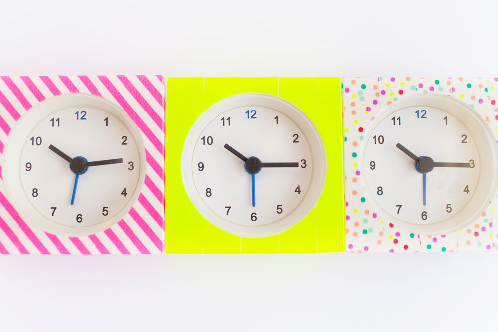 These-DIY-washi-tape-clocks-are-so-simple-and-incredibly-cheap-to-make