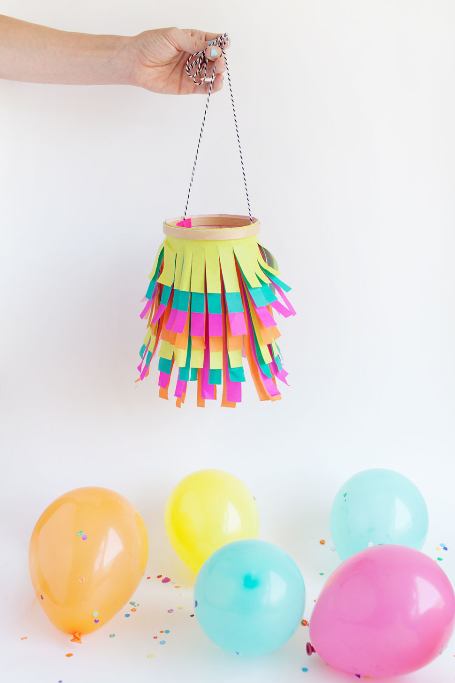 Tissue paper lantern tell love and partytell love and party for Diy paper lanterns