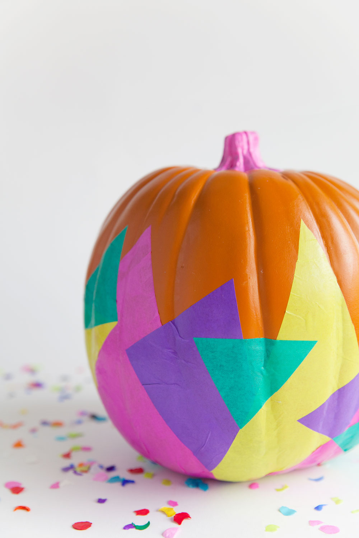 geometic-decorated-pumpkin
