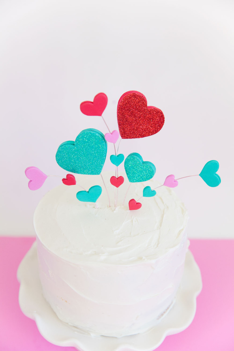 crazy hearts cake topper tell love and partytell love
