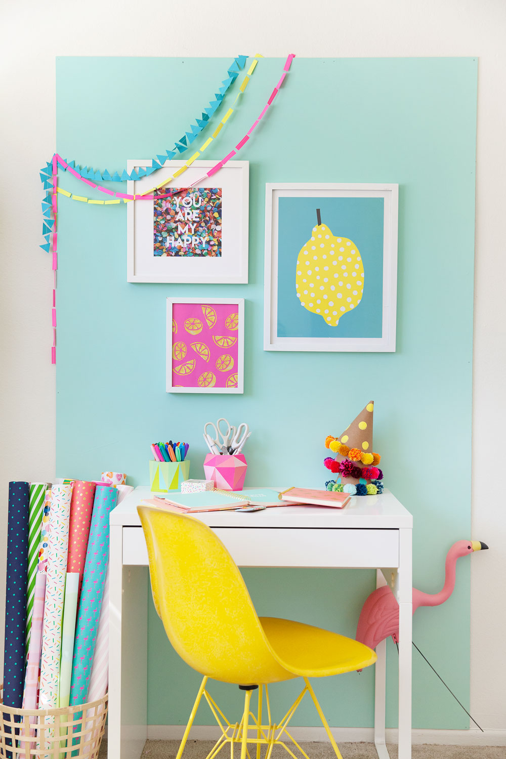 A-fun-and-colorful-office-redo.--A-few-simple-things-can-make-all-the-difference,-check-it-out