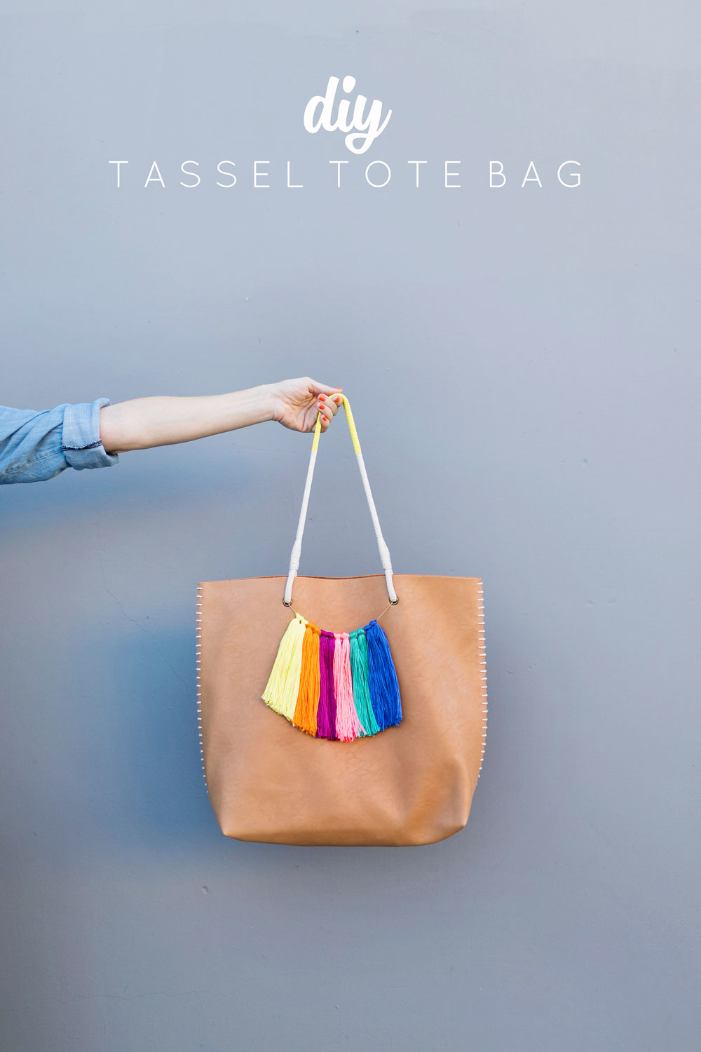DIY TASSEL TOTE BAGTell Love and PartyTell Love and Party
