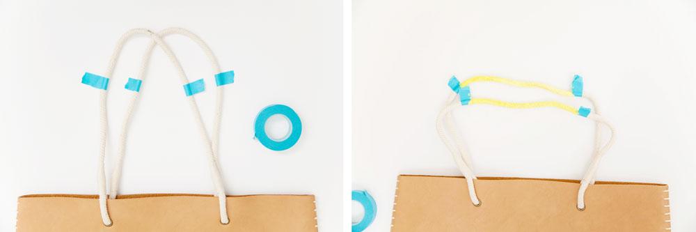 Painted-rope-handle