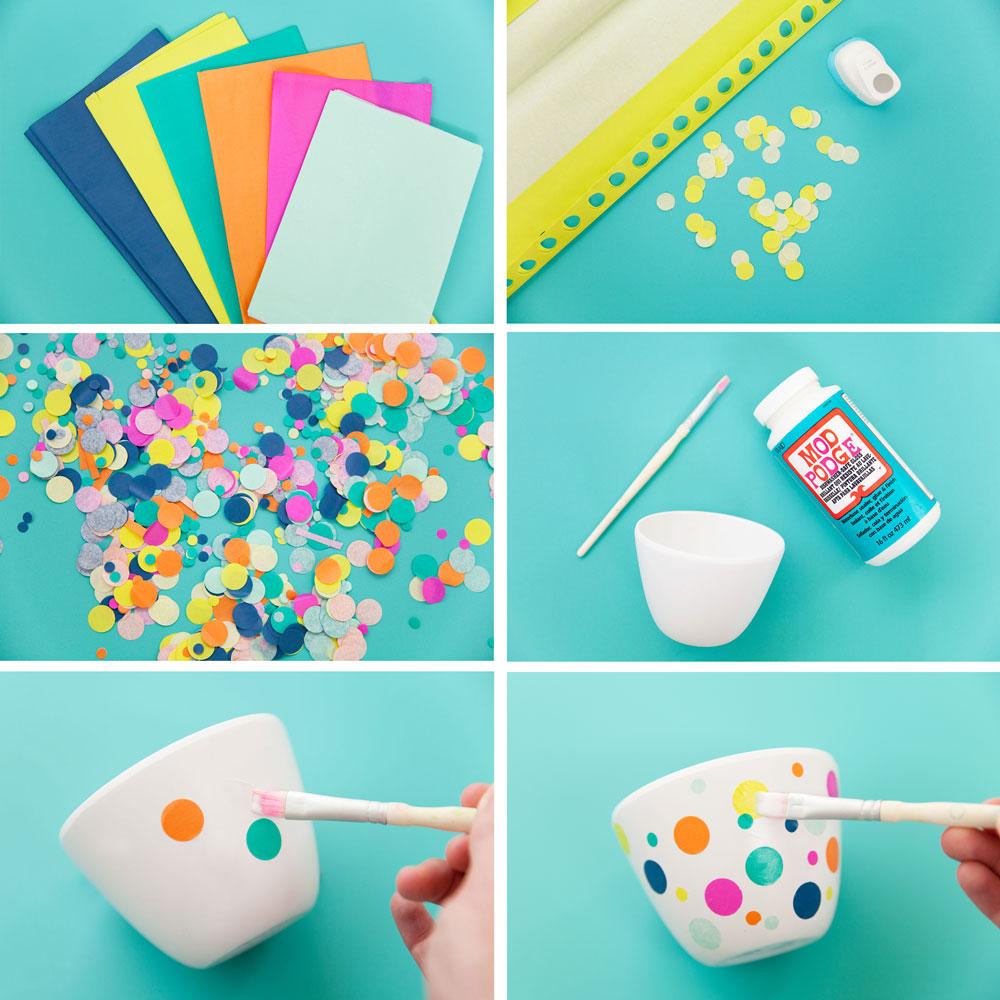 Diy Steps Confetti Candy Bowls