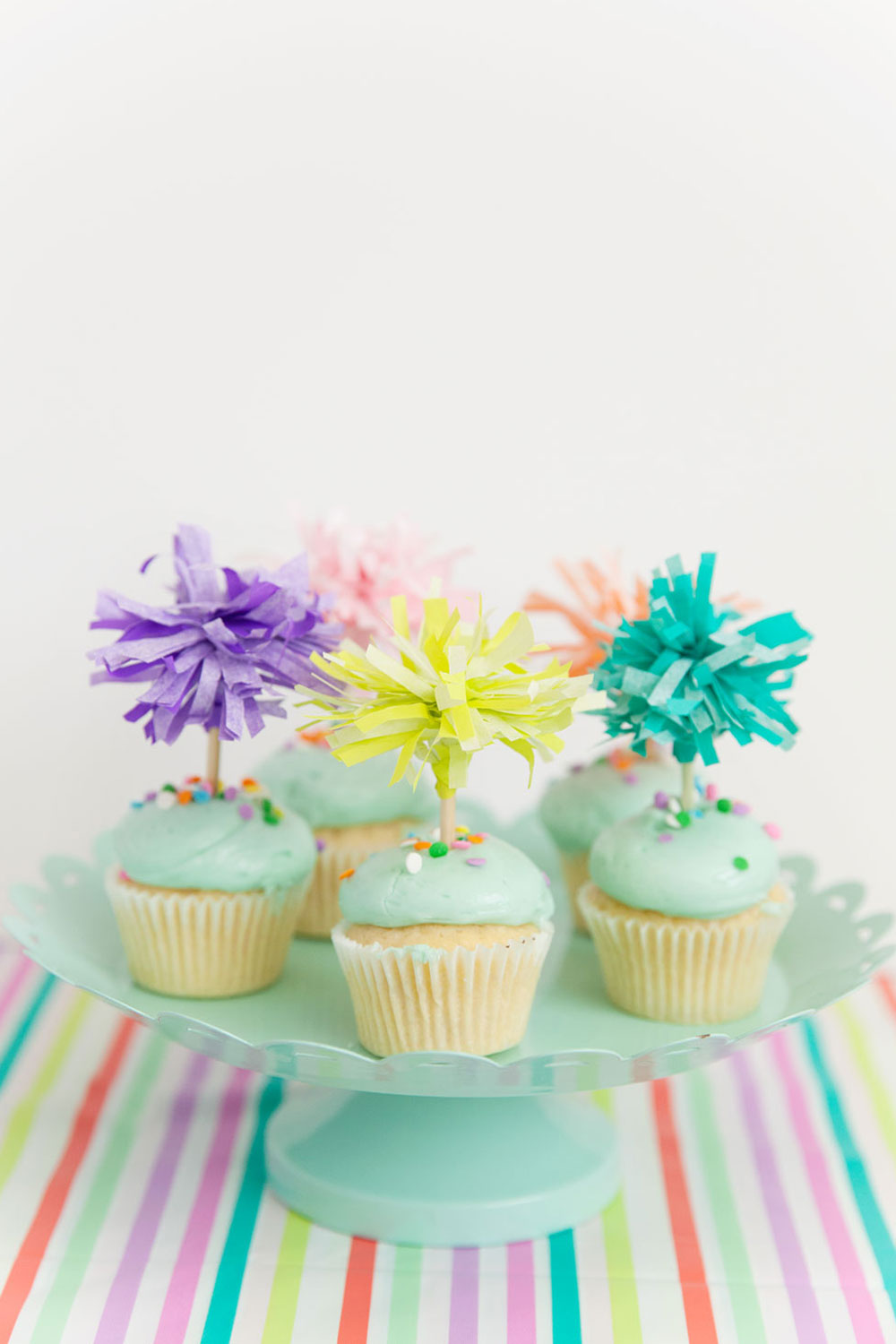 TISSUE PAPER CUPCAKE TOPPERS - Tell Love and Party