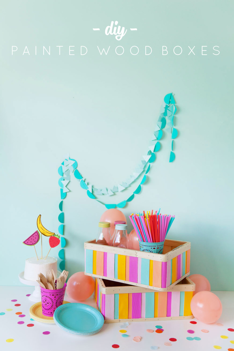DIY-painted-wood-box-perfect-for-parties-or-just-cute-storage---