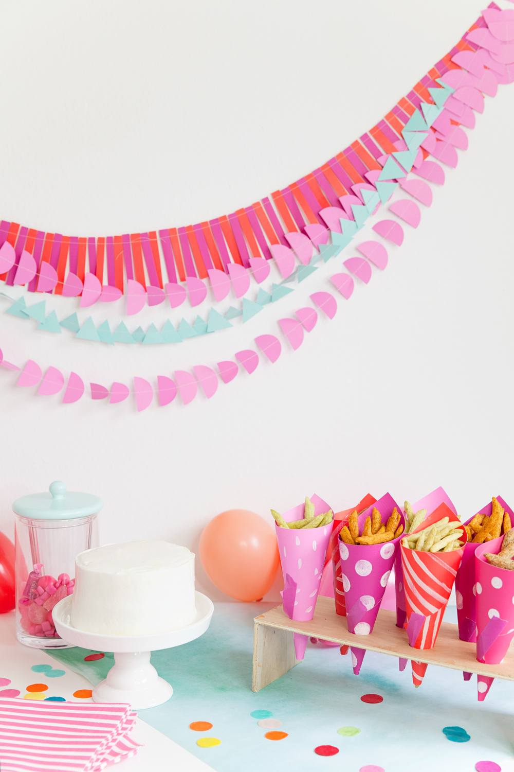 diy party decor and snack holders