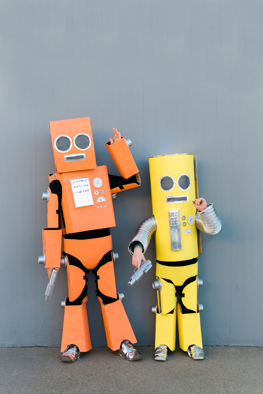 DIY ROBOT FAMILY COSTUME