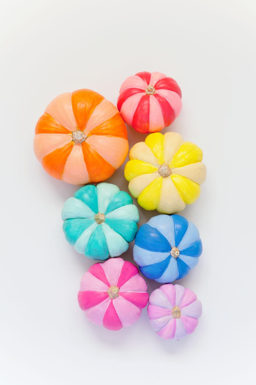 DIY-Rainbow-Painted-Pumkins