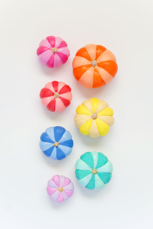 DIY-rainbow-painted-pumpkins