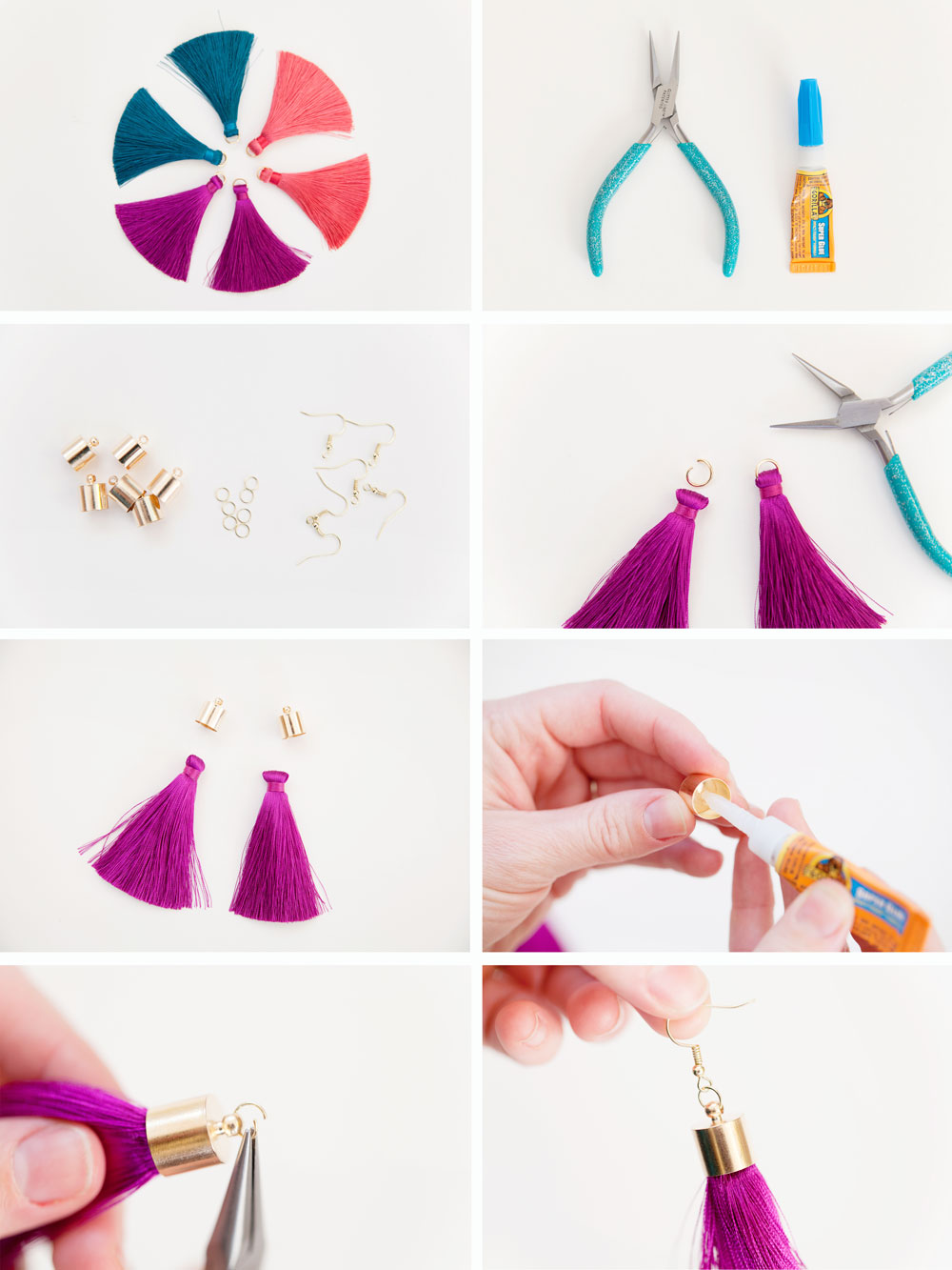 diy tassel earrings tell love and party. Black Bedroom Furniture Sets. Home Design Ideas