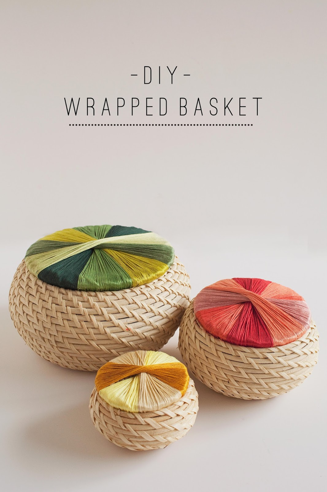 tell diy wrapped basket tell love and party