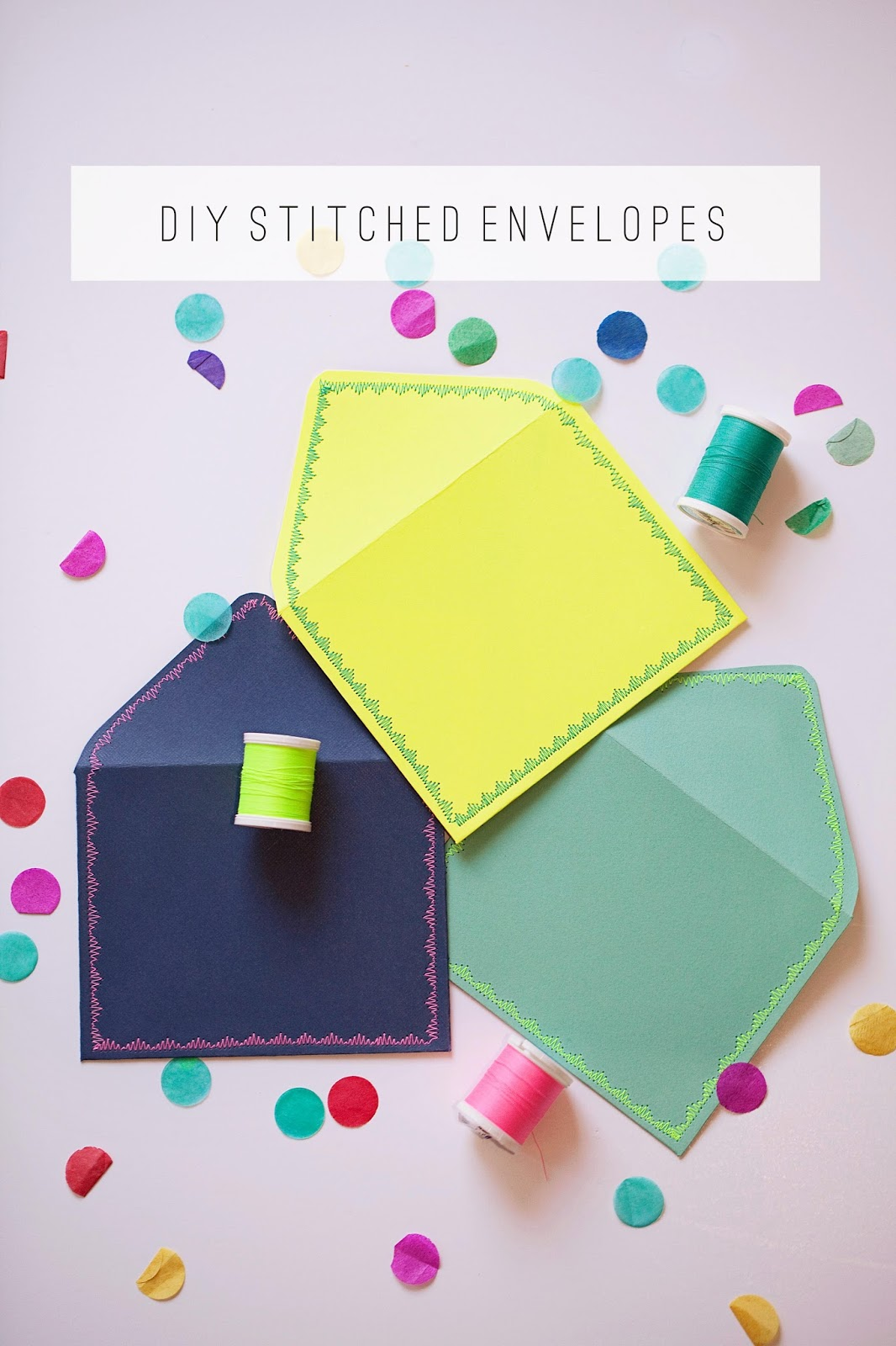 tell  diy stitched envelopes