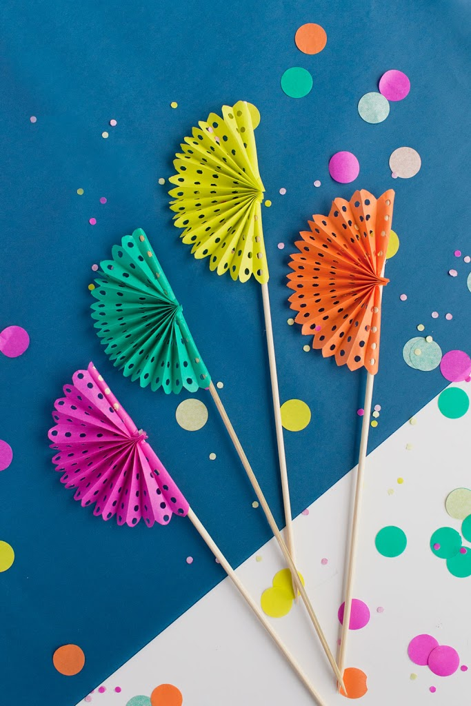 Tell Diy Paper Fan Drink Stirrers Tell Love And Party