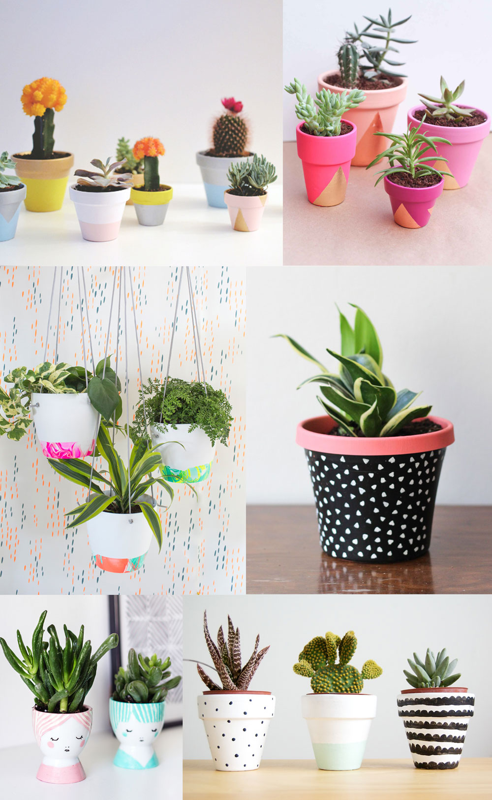 6 diy painted pot ideas tell love and party for Design patterns for pot painting