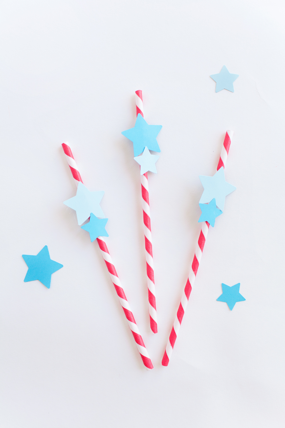 4th of July Party straws