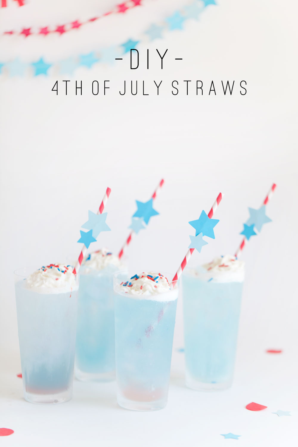 DIY 4th of-july drink stirrers-