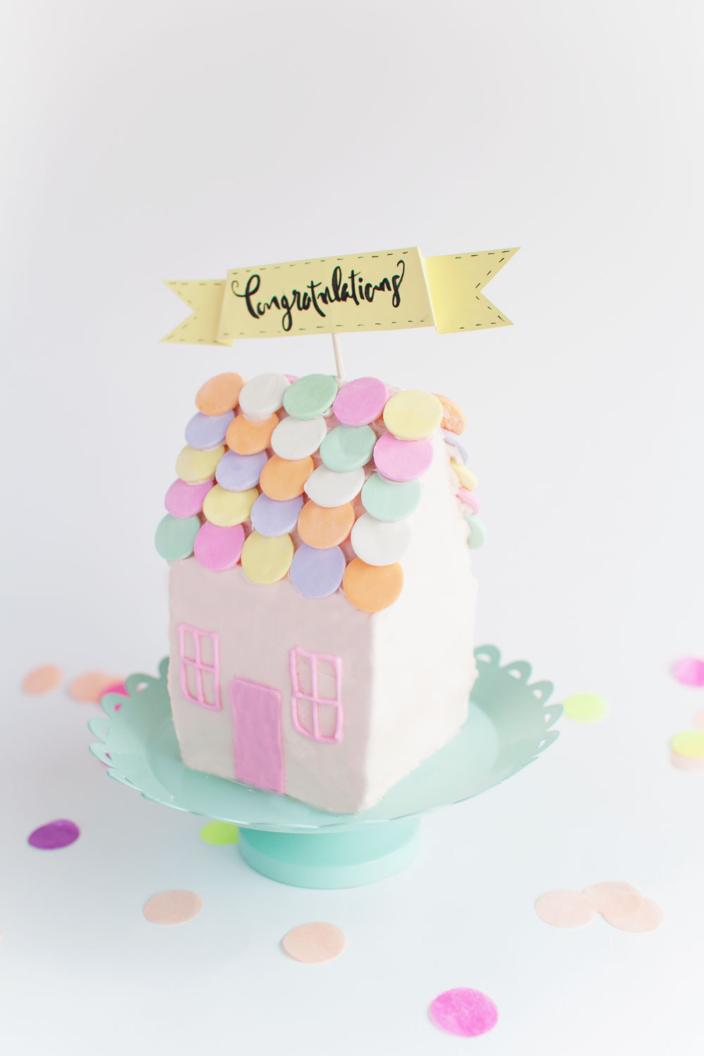 Housewarming cake idea  sc 1 st  Tell Love and Party & DIY HOUSE CAKE - Tell Love and Party