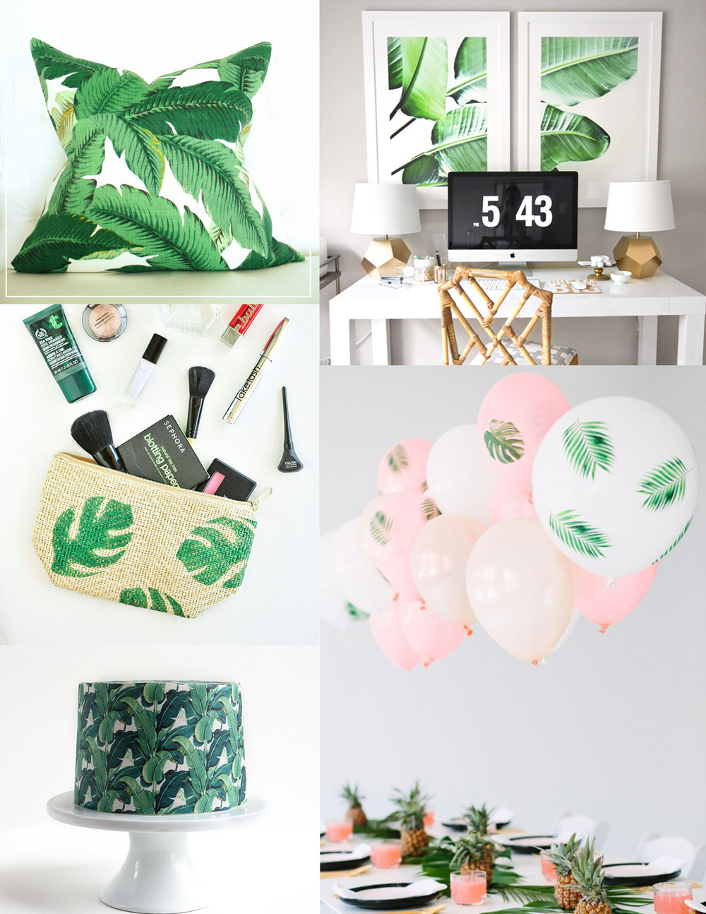 Tropical Leaf Diy Ideas Tell Love And Party
