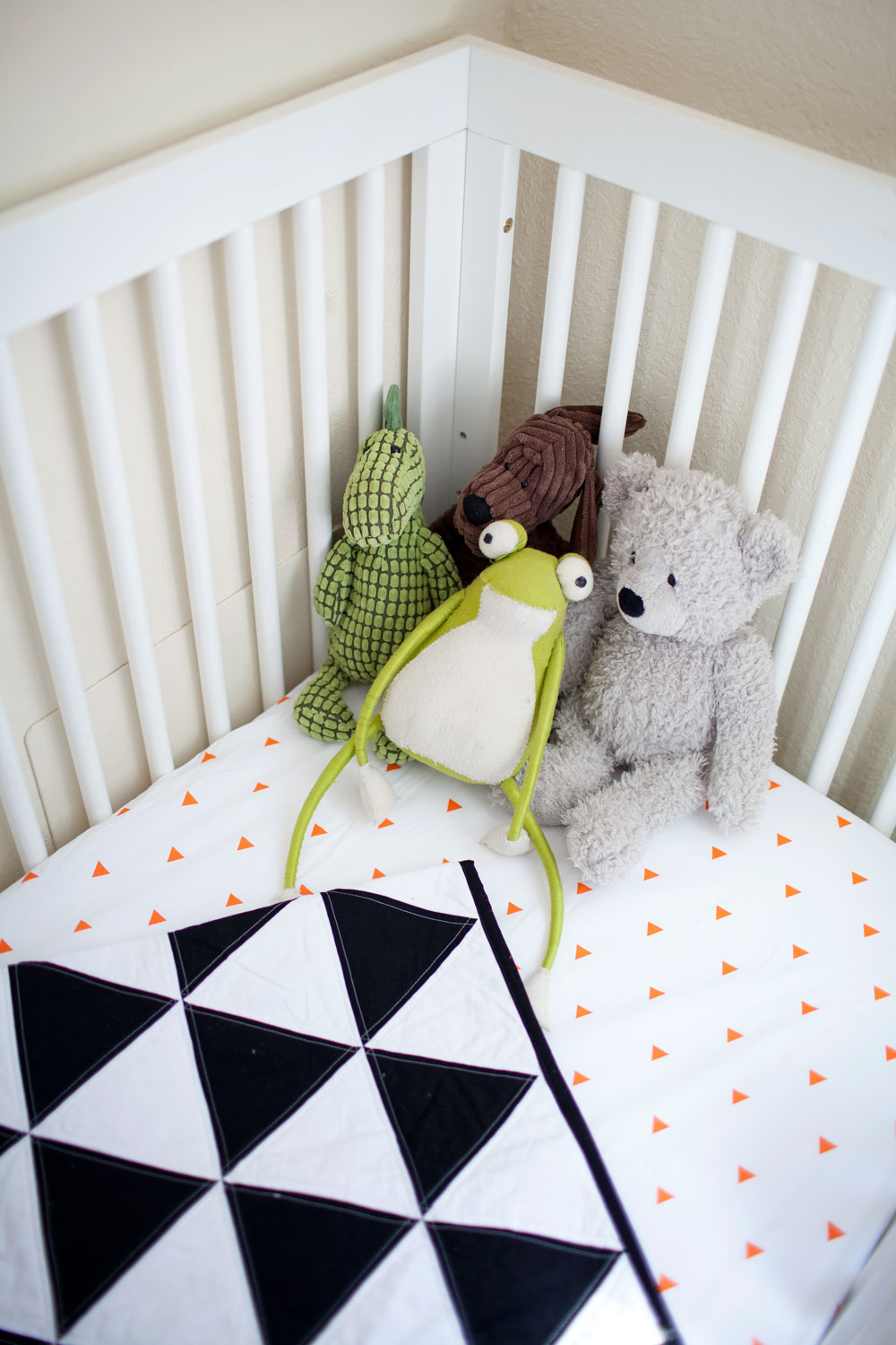Tell Love and chocolate-baby crib bedding