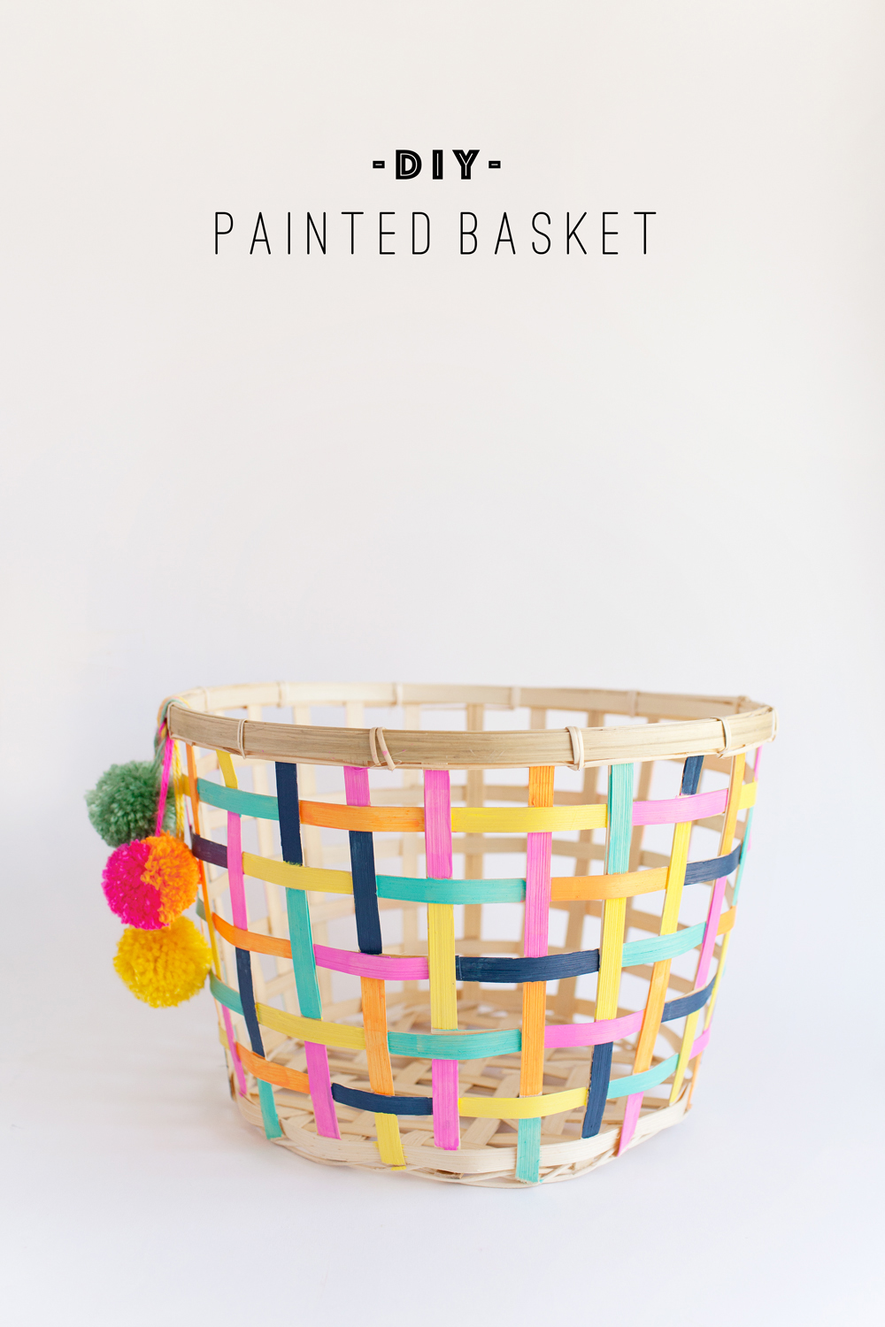 DIY painted storage basket