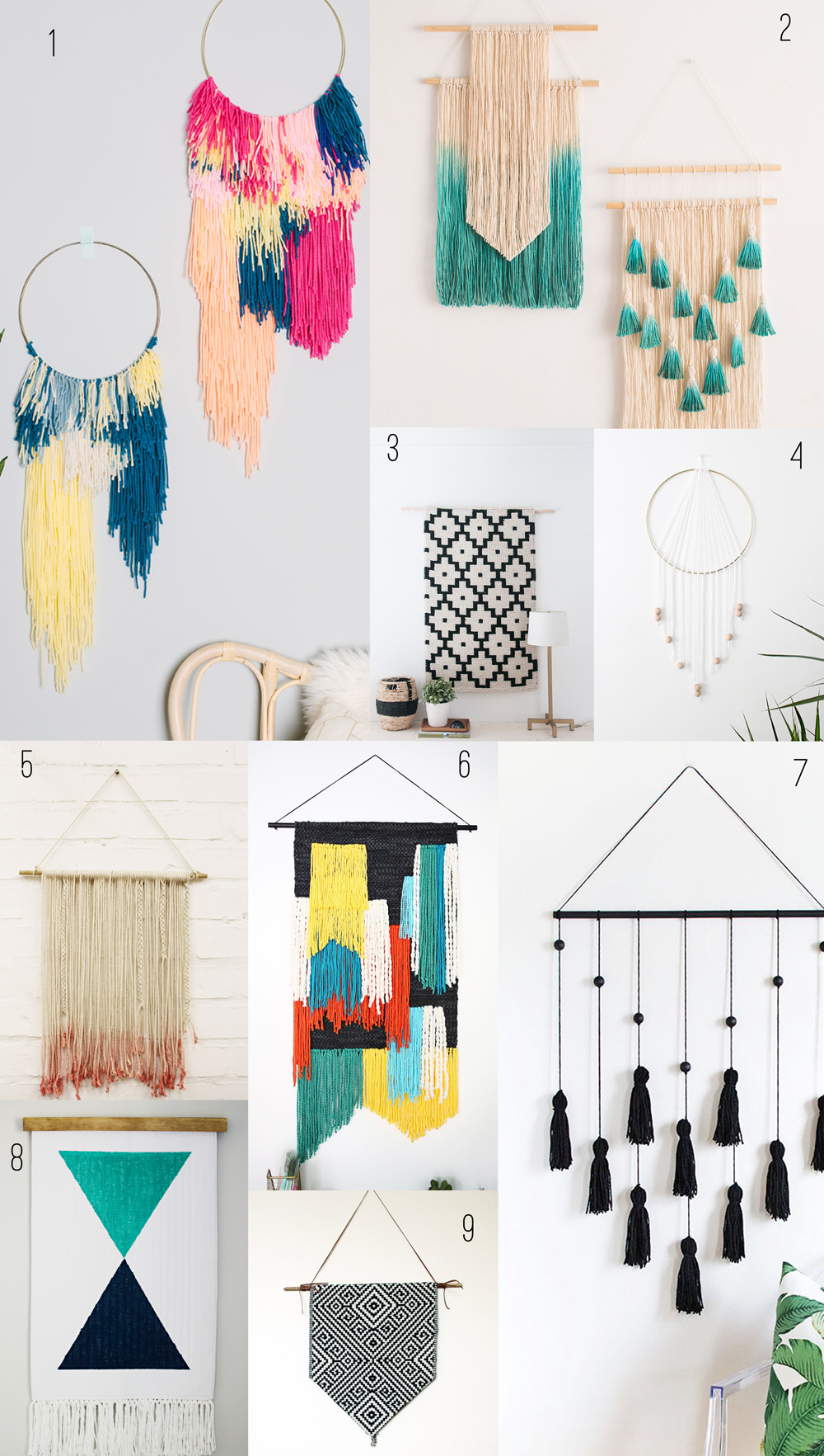 9 amazing diy wall hangings tell love and party for Wall hanging images