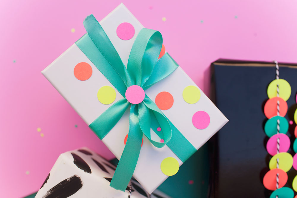 Fun Gift Wrap Ideas Using A Hole Punch Tell Love And Party
