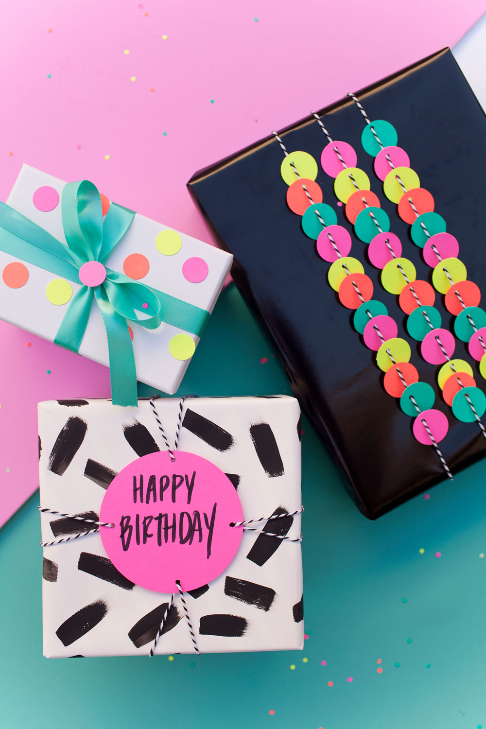 FUN GIFT WRAP IDEAS USING A HOLE PUNCH