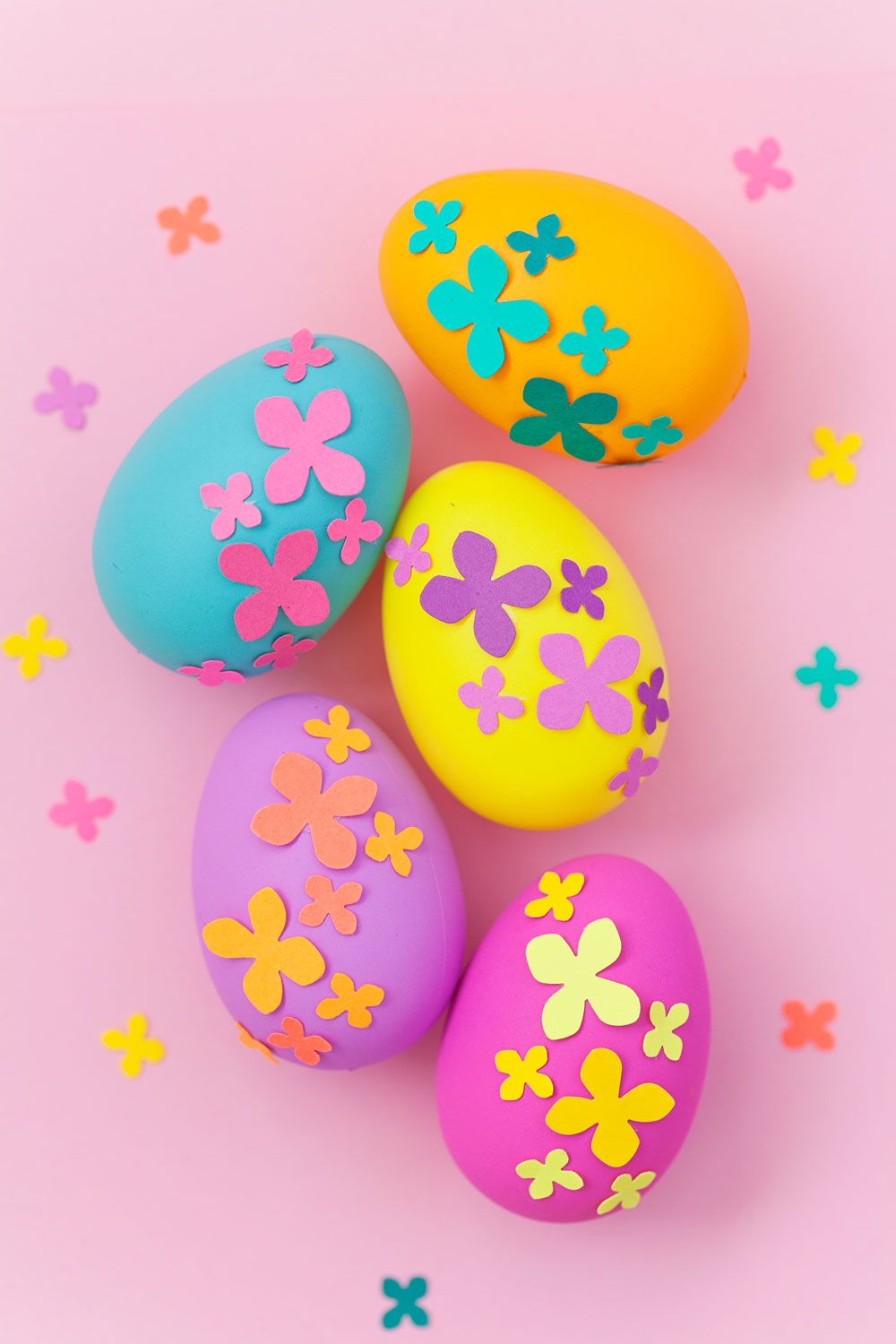 paper flower easter eggs