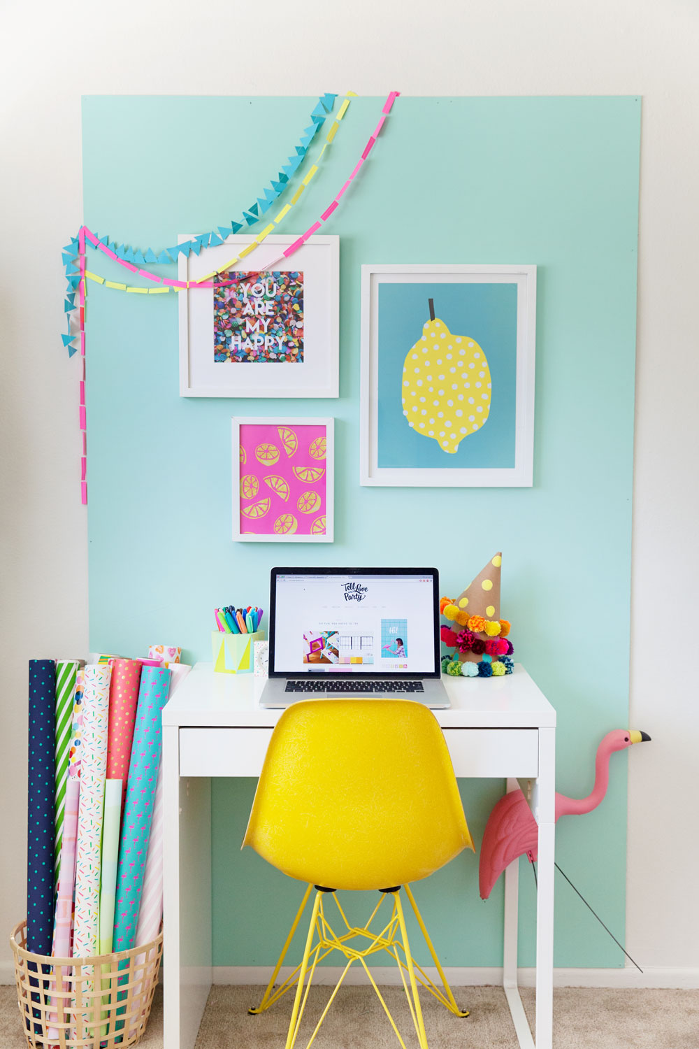 A-fun-and-colorful-office-redo-and-design.--Great-for-if-you-are-renting