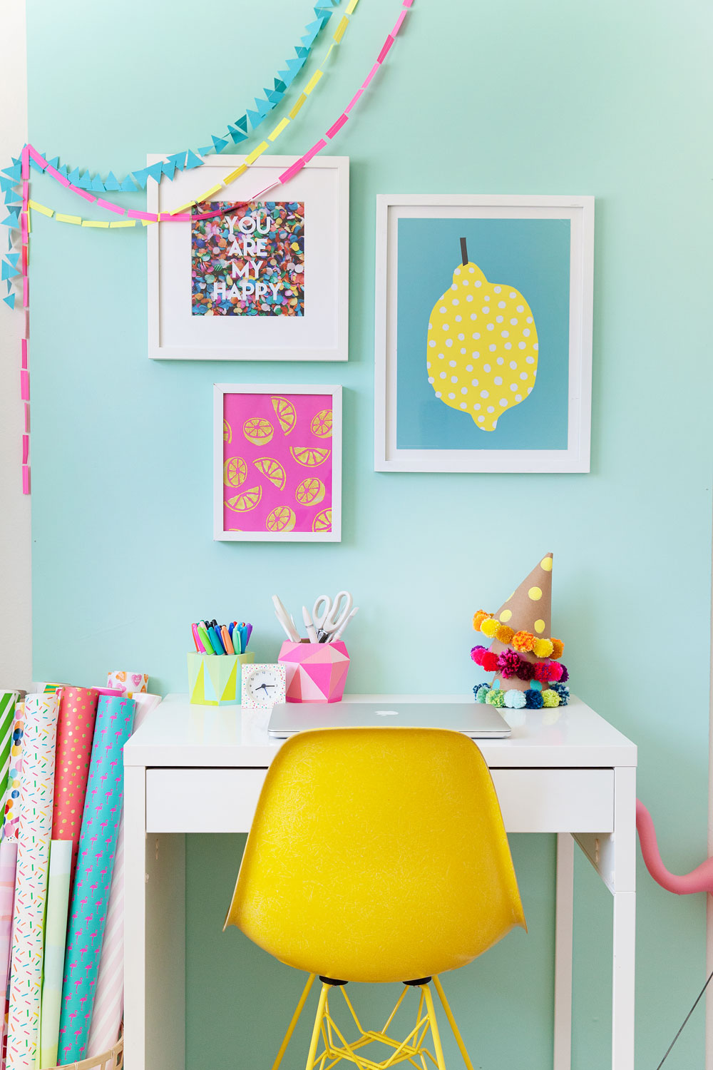 Colorful-and-fun-office-redo