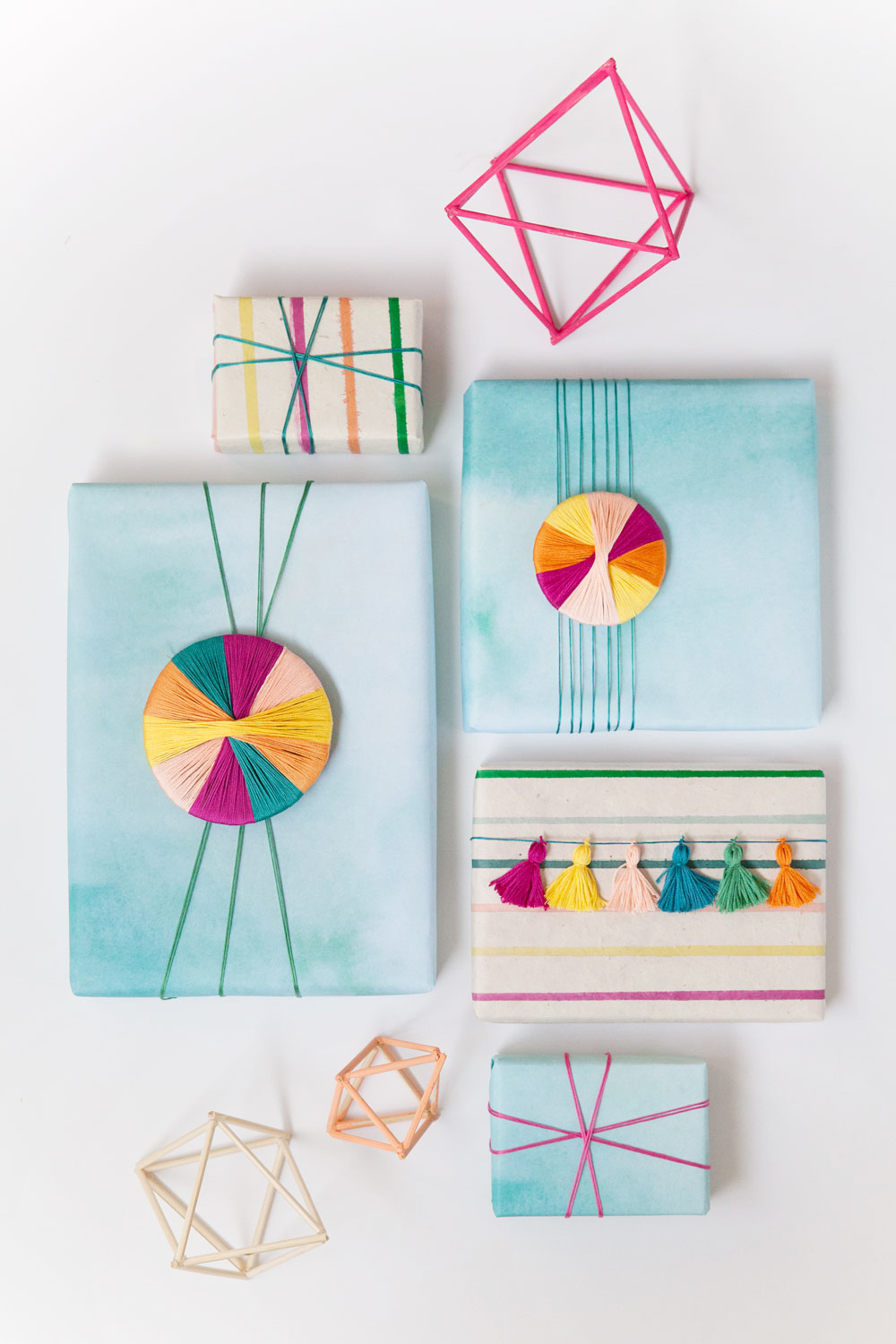 A-fun-and-unique-way-to-gift-wrap-using-embroidery-floss