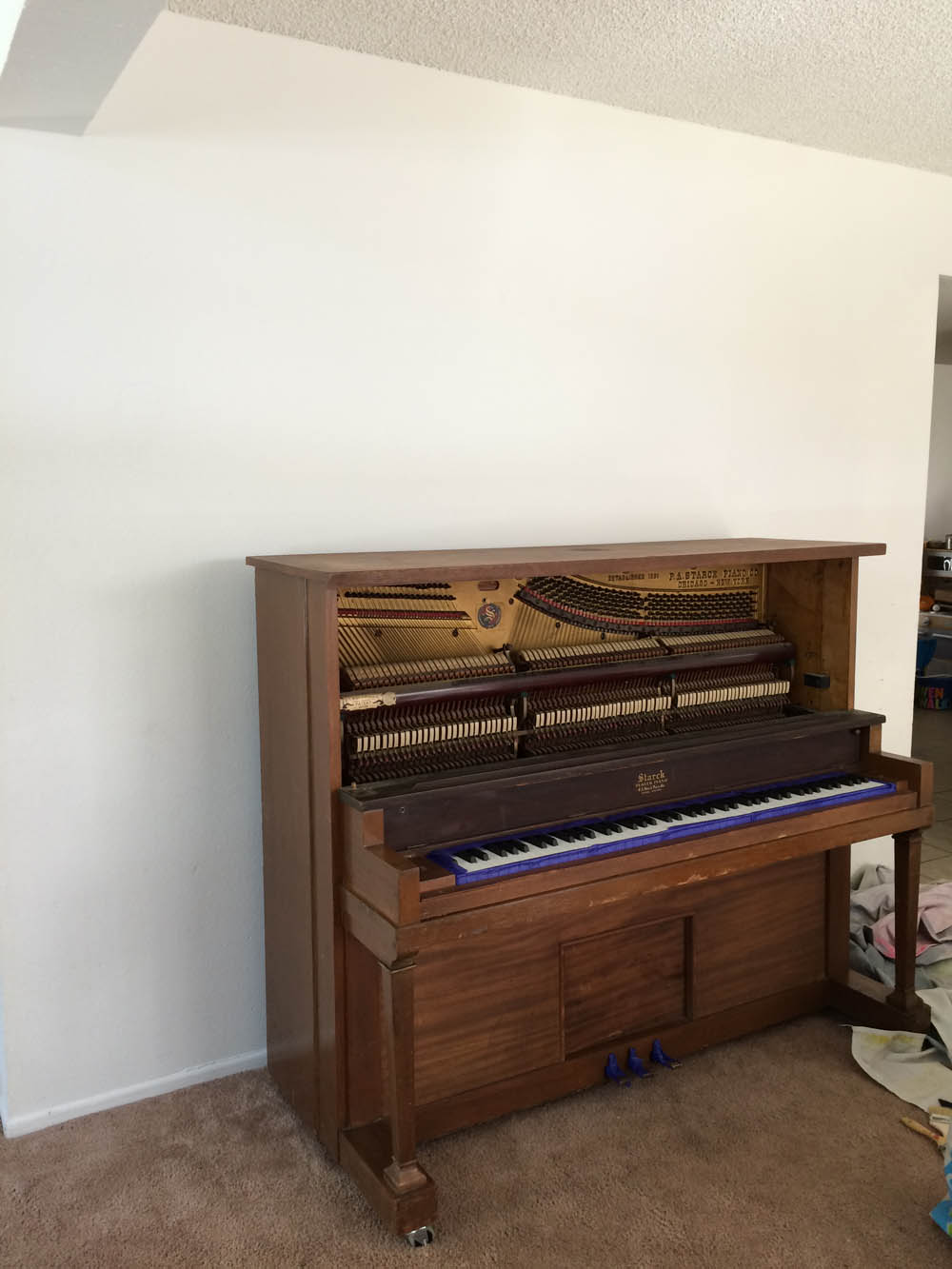 diy painted piano