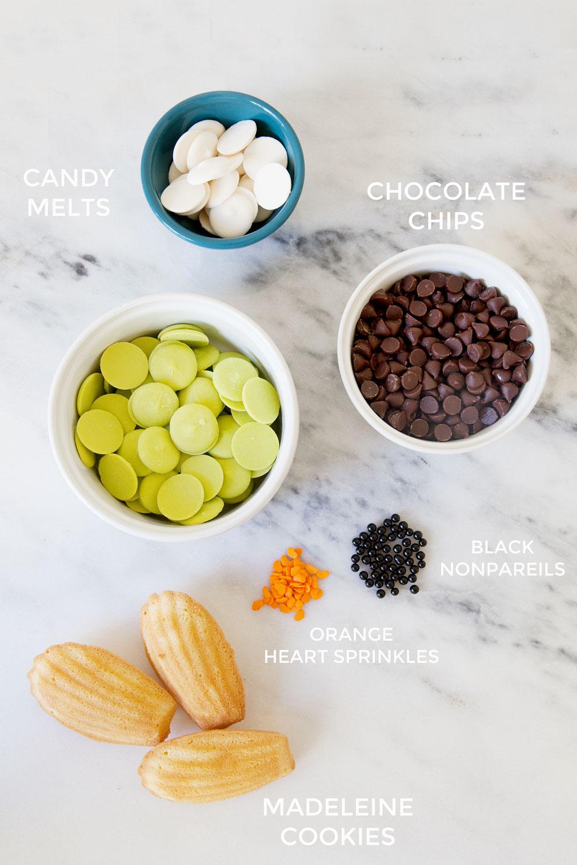 Supplies-to-make-adorable-halloween-bride-of-frankenstein-cookies