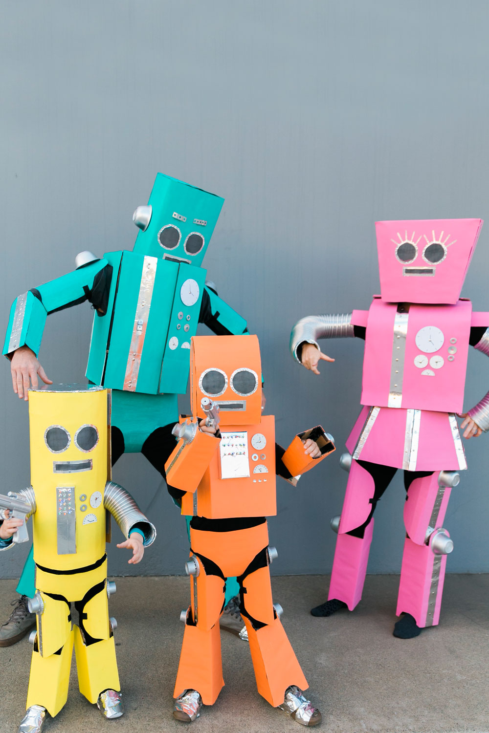 Diy Robot Family Costume Tell Love And Party