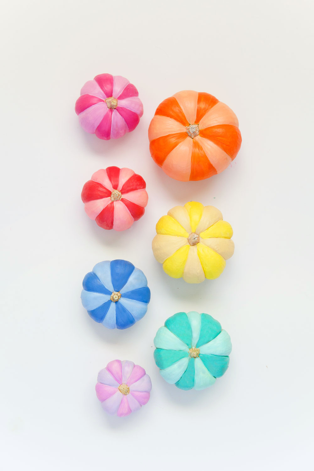 DIY-rainbow-painted-pumpkins
